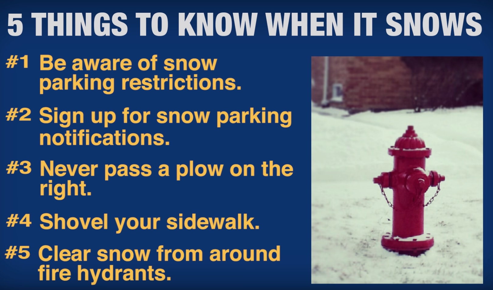 5 Things To Remember When It Snows